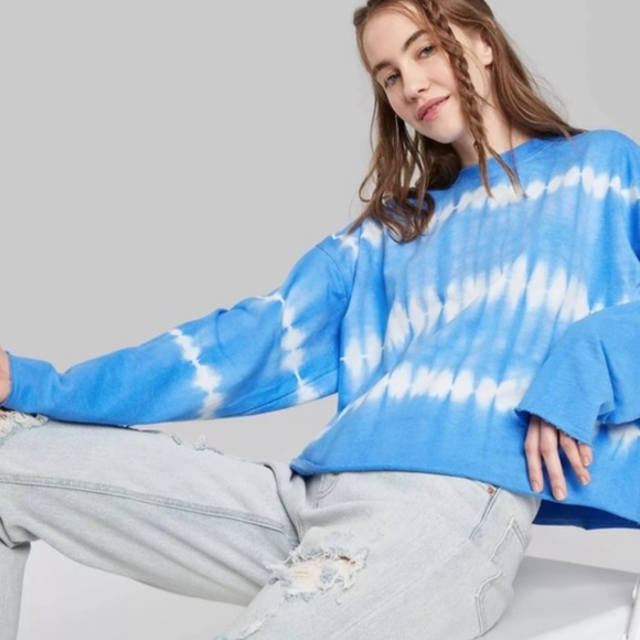 Wild Fable Tie Dye French Terry Sweater